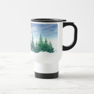 Winter Trees Stainless Steel Travel Mug