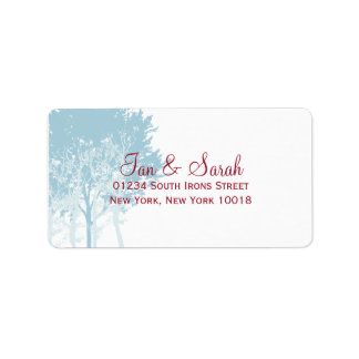 Winter Trees Wedding Address Label