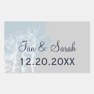 Winter Trees Wedding Favor Stickers