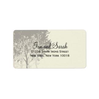 Winter Trees Wedding Label