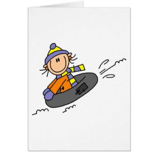 Winter Tubing Greeting Card