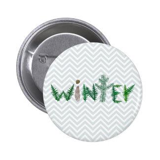 Winter Twigs 6 Cm Round Badge