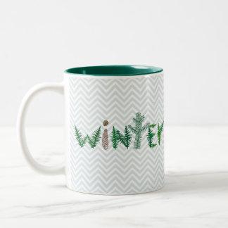 Winter Twigs Two-Tone Mug