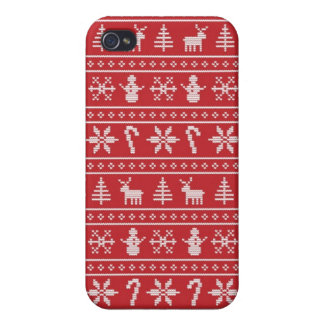Winter Ugly Sweater iPhone 4 Case