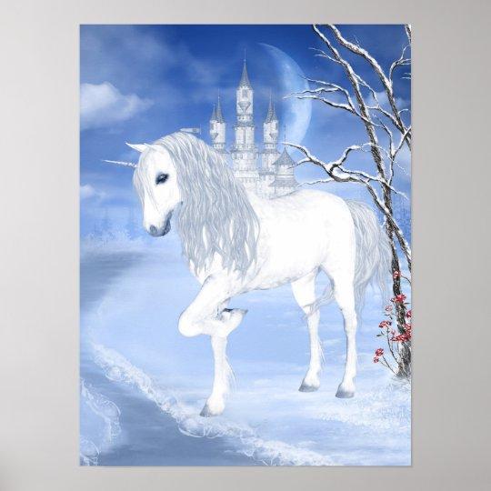 Winter Unicorn Poster