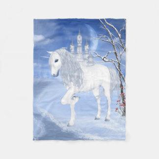 Winter Unicorn Small Fleece Blanket