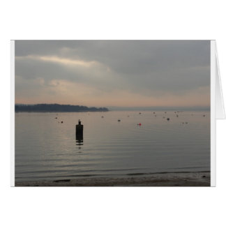 Winter view of Poole Harbour. Card