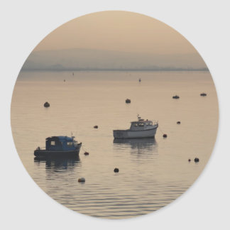 Winter View of Poole Harbour Classic Round Sticker
