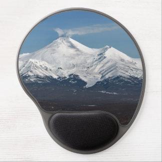 Winter view of volcanoes of Kamchatka Peninsula Gel Mouse Mat