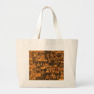 Winter Village golden Tote Bag