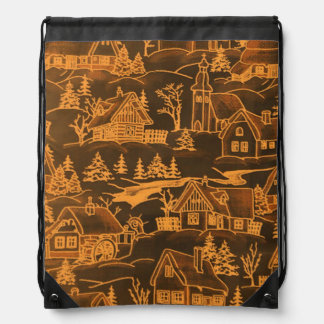 winter village golden backpacks