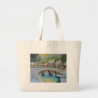 winter village large tote bag