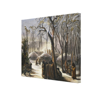 Winter Village of the Minatarres Canvas Print