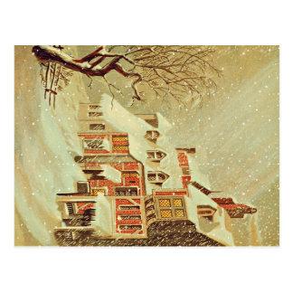 Winter Village Postcard
