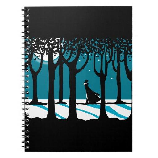Winter Walk in Moonlit Woods. Journals