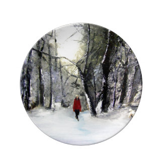Winter walk plate