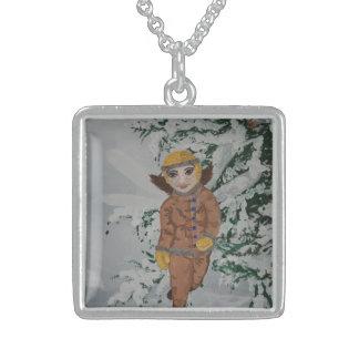 Winter Walk sterling pendant