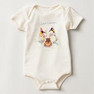 """Winter Warmers"" Baby Organic Bodysuit"