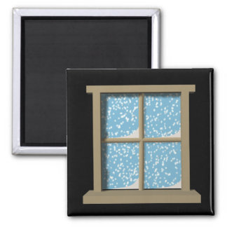 Winter Watching Square Magnet