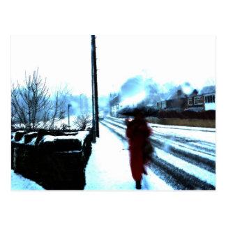 Winter Watercolour Postcard