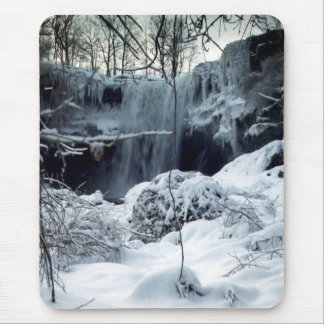 Winter Waterfall, Mouse Pad