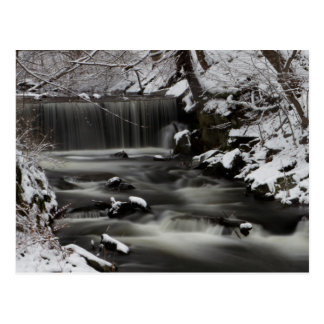 Winter Waterfall postcard