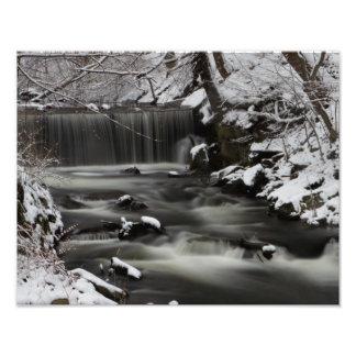 Winter Waterfall print