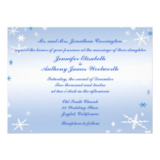 Winter Wedding Announcements