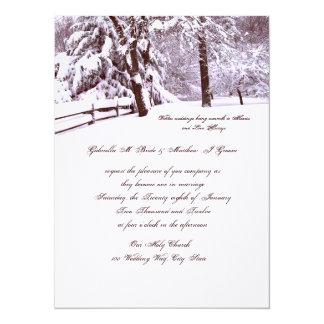 Winter Wedding Beautiful 14 Cm X 19 Cm Invitation Card