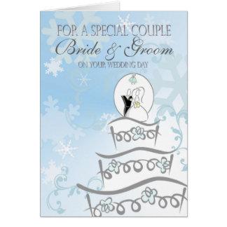 Winter Wedding Customizable Card