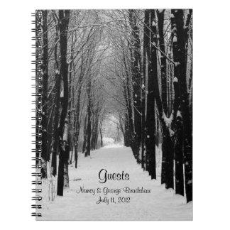 Winter Wedding Guest Sign In Notebook
