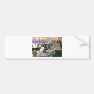 Winter Wedding in Washington Square c. 1897 Bumper Sticker