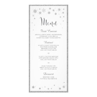 Winter Wedding Menu / Snowflake Wedding Menu