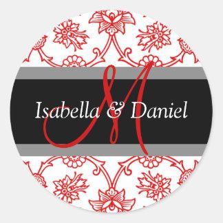 Winter Wedding Monogram Seal Stickers
