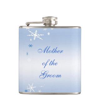 Winter Wedding Mother of the Groom Flasks