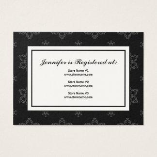 Winter Wedding Registry Card in B&W on Cream
