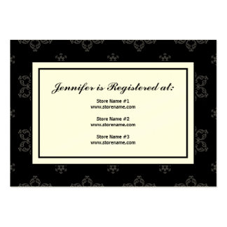 Winter Wedding Registry Card in B&W on Cream Pack Of Chubby Business Cards