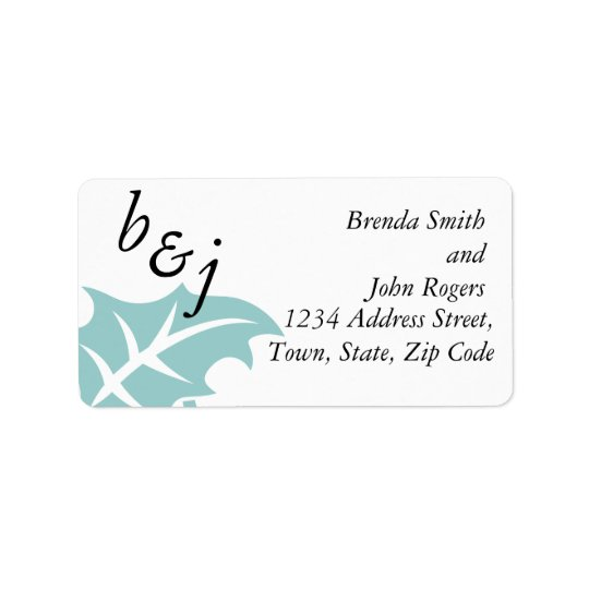 Winter Wedding Reply Card Address Labels