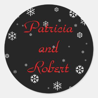 Winter Wedding Round Sticker