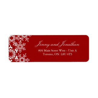 Winter Wedding RSVP Address Labels