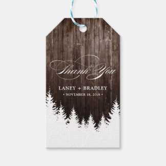 Winter Wedding Rustic Wood Favor Hang Tag
