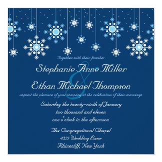 Winter Wedding Snowflakes Invitation