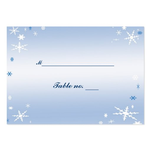 Winter Wedding Table Place Card Business Cards