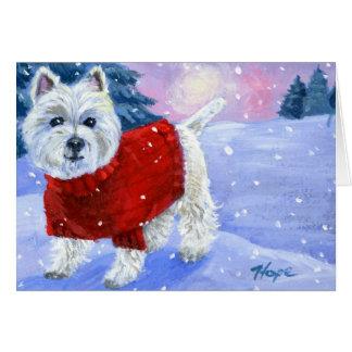 Winter Westie Greeting Card