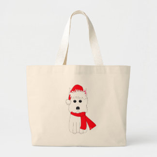 Winter Westie Large Tote Bag