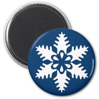 Winter White Christmas Snowflake Magnet