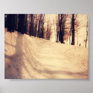 Winter White Road Poster