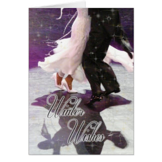 Winter Wishes Dancers PERSONALIZED Greeting Card