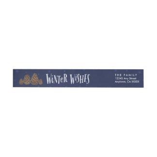 Winter Wishes Envelope Seal, address label