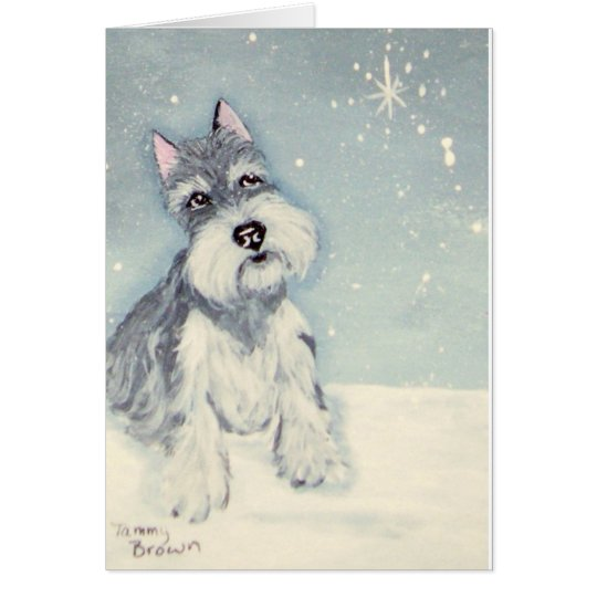 Winter Wishes from a Schnauzer Card
